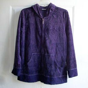 Avenue Women's 2-Piece Velvet Set Hoodie & Pants